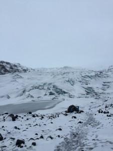Gletscher im Winter