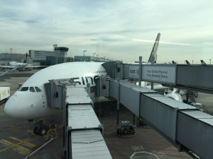 A380 Business Class von New York
