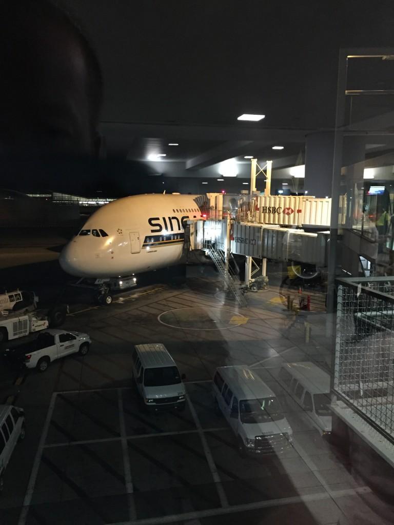A380 Business Class von New York