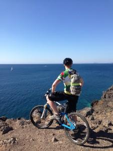 Eine MTB Tour in Puerto des Carmen und Timanfaya.