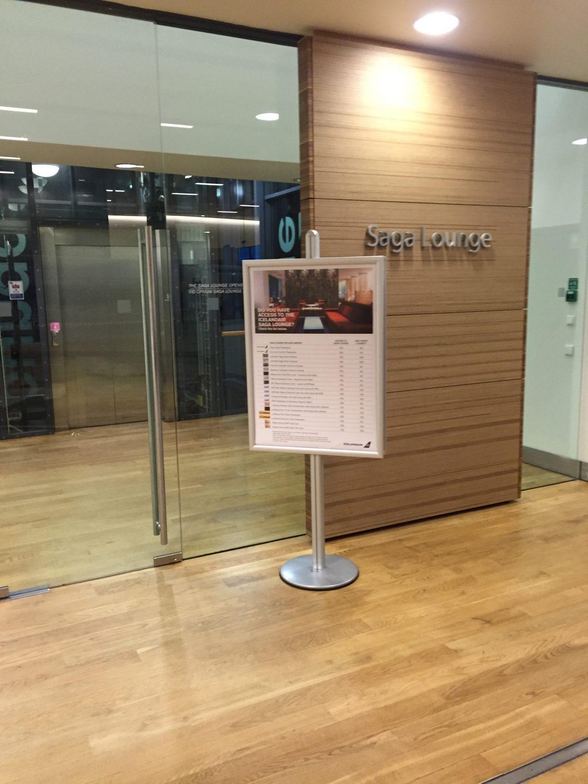 Icelandair Saga Lounge Keflavik Airport