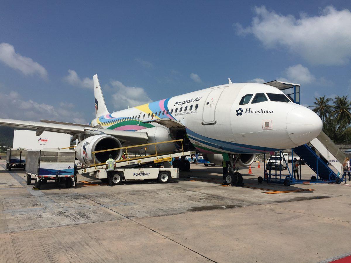 Bangkok Airways im A319 von Bangkok nach Koh Samui
