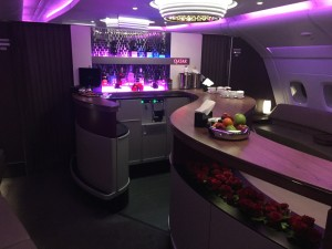 A380 Bar an Bord für First und Business Class.