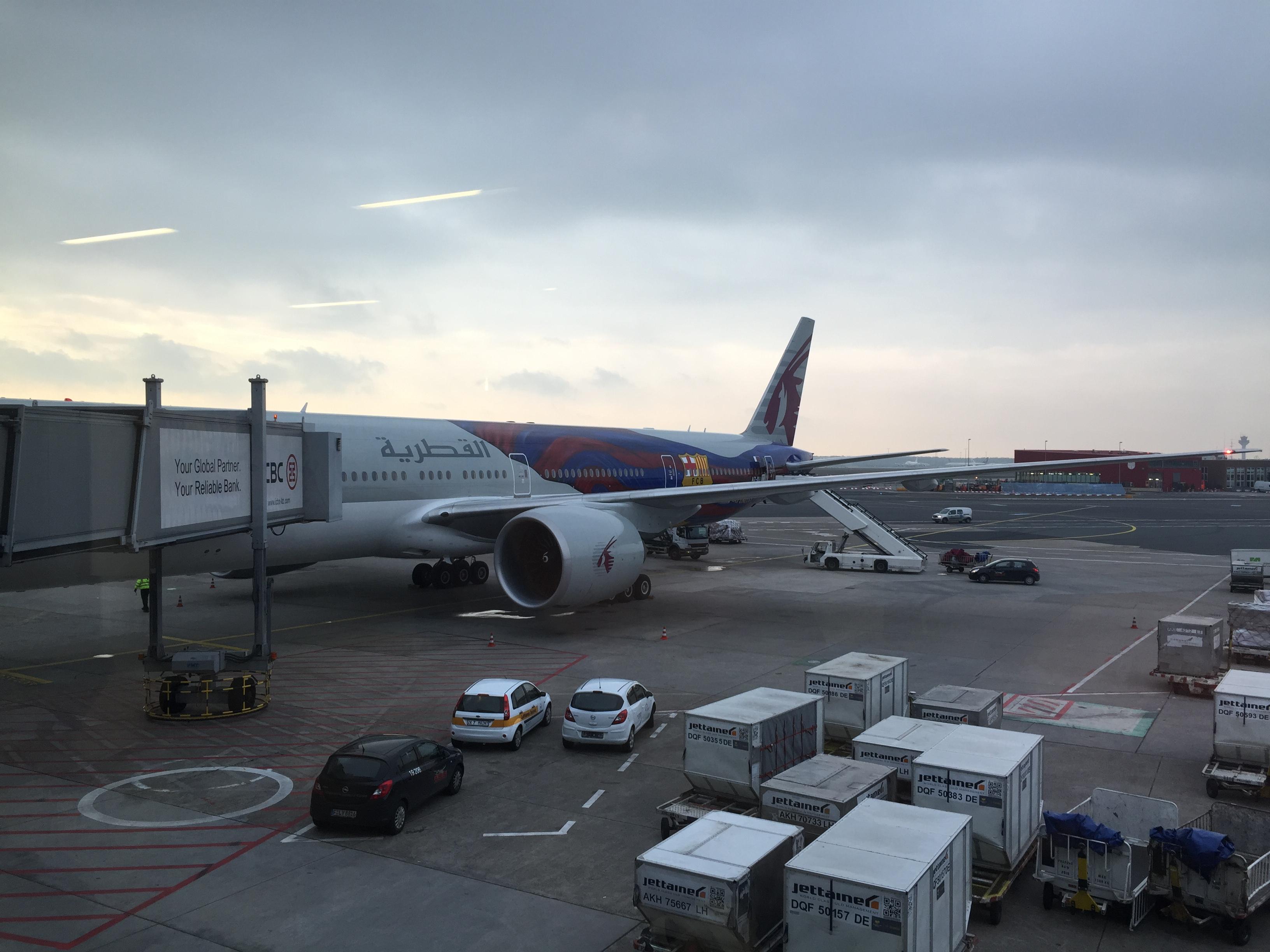 Frankfurt nach Doha in der Qatar Airways Business Class