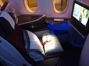 Airbus A350 Business Class von Qatar Airways
