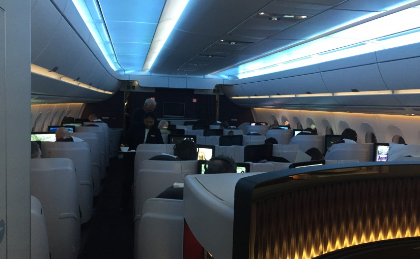 Qatar Airways A350 Business Class von Doha nach Frankfurt