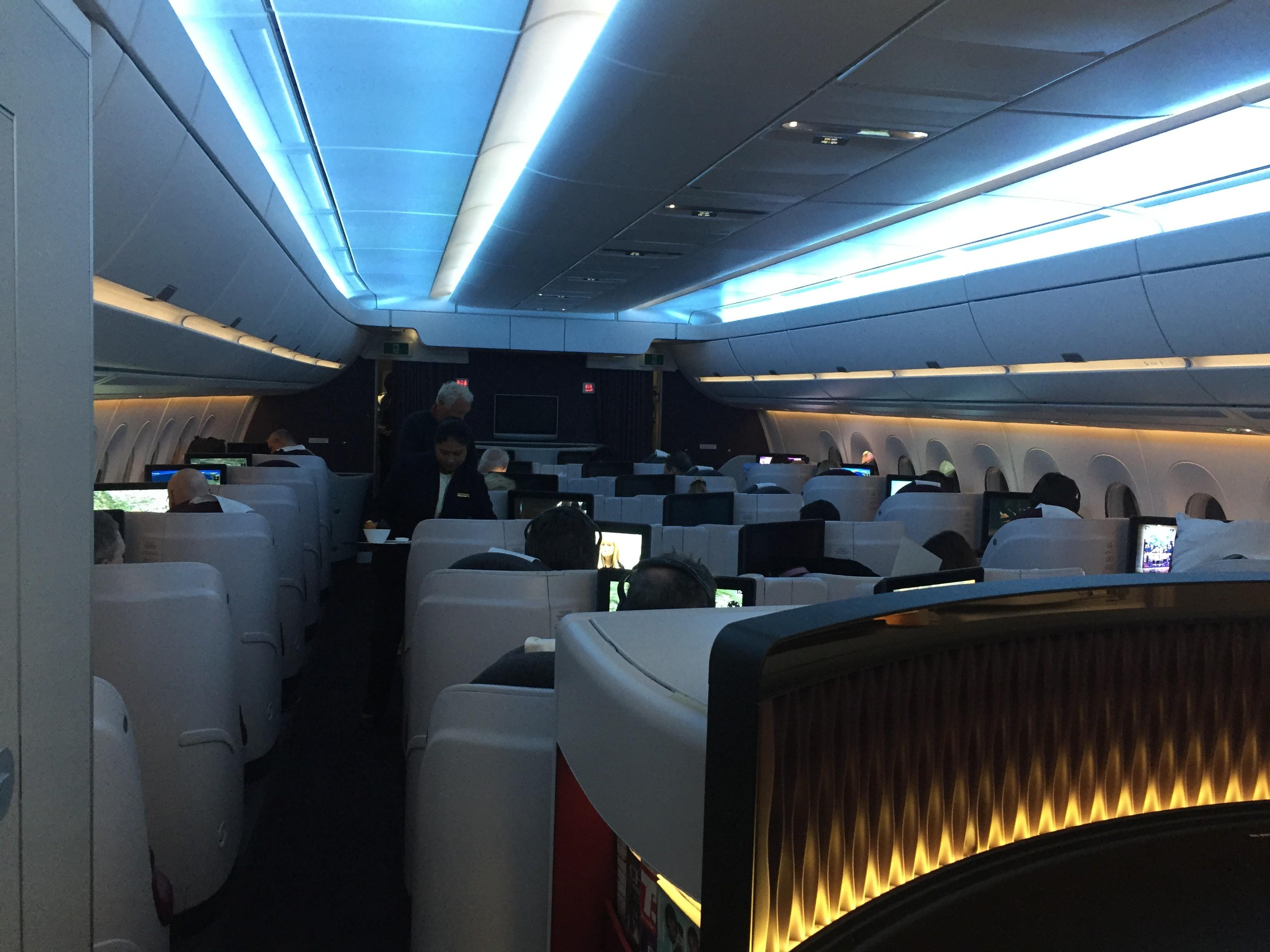 Qatar Airways A350 Business Class von Doha nach Frankfurt