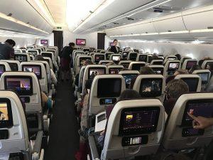 Doha nach Frankfurt im Airbus A350 Business Class