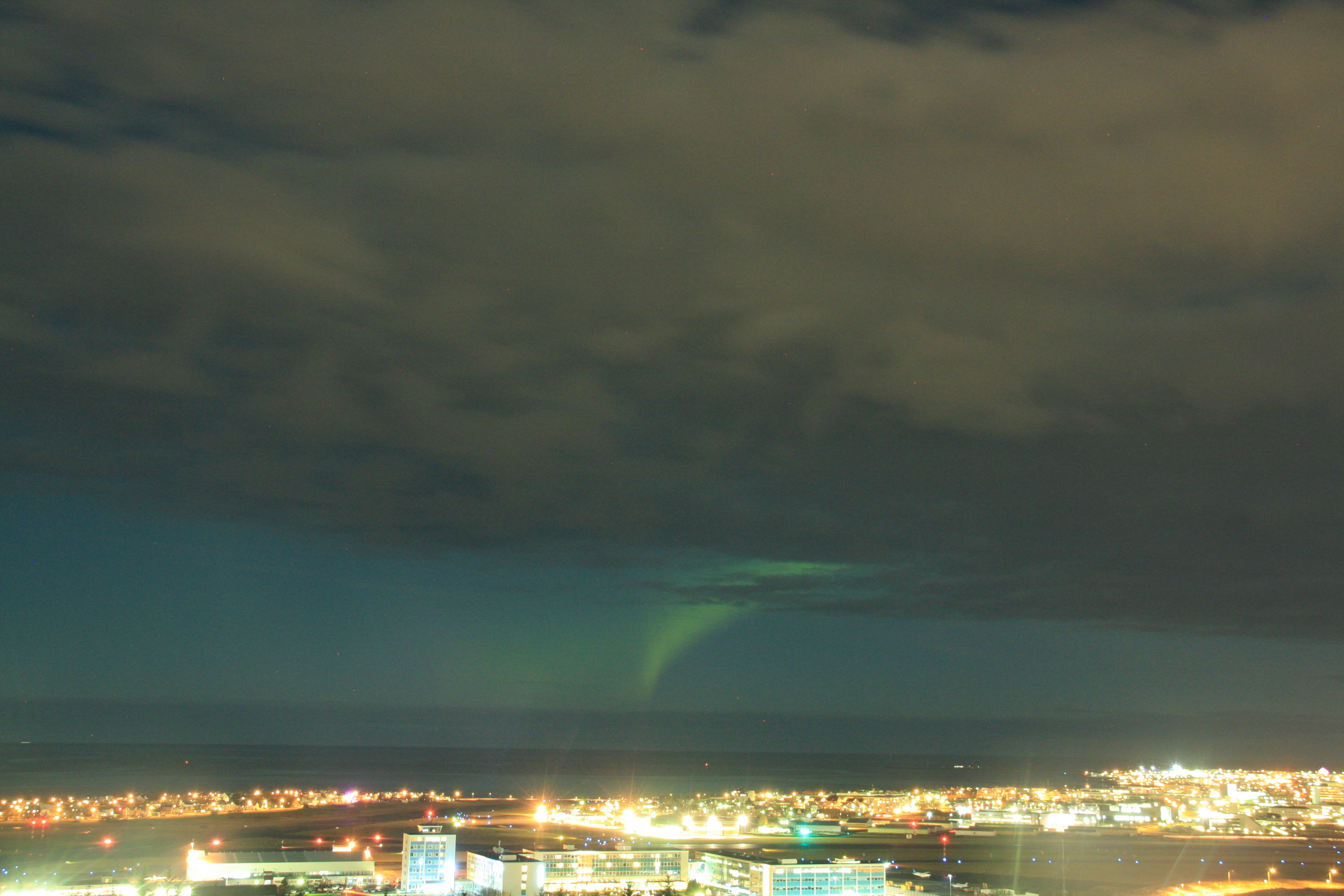 Nordlicht Jagd in Reykjavik - Das Nordlicht
