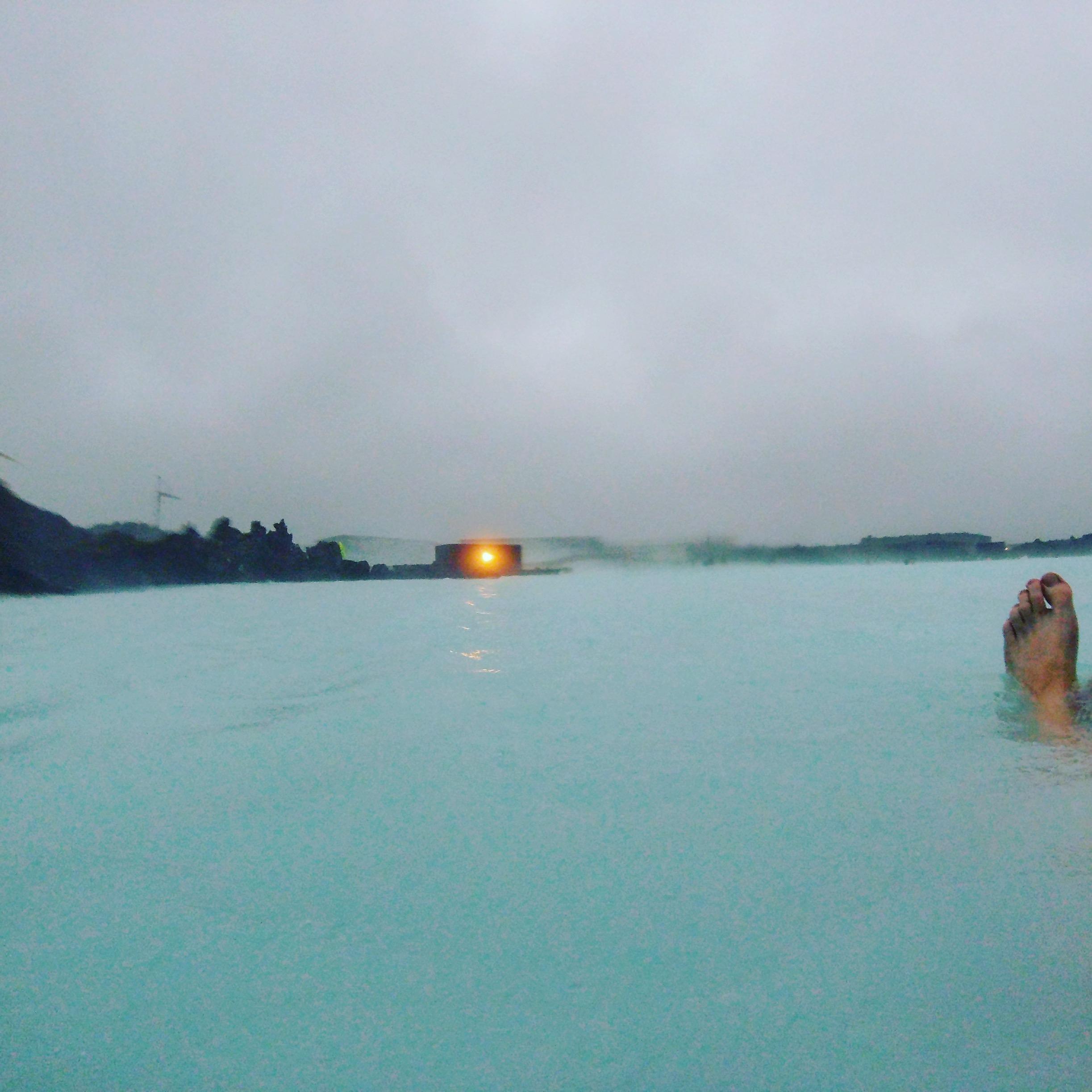 Blaue Lagune im Sturm