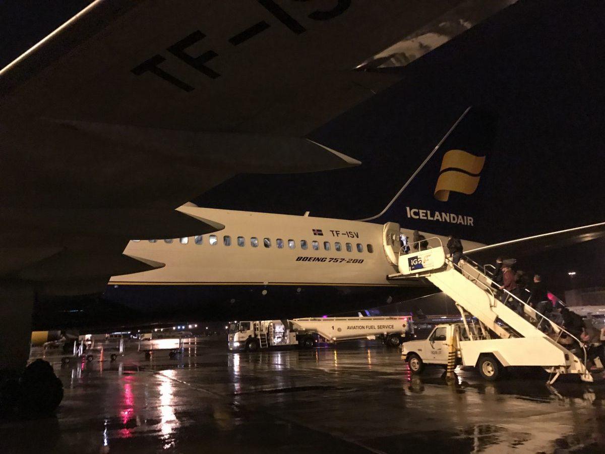 Economy Class von Icelandair - Keflavik nach Frankfurt