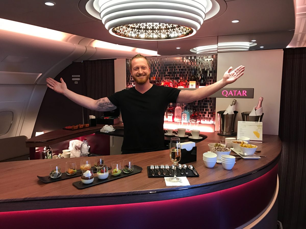 Qatar Airways A380 Business Class nach Doha