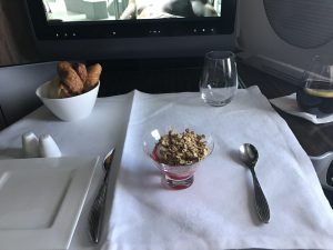 Im neuen A350 von Qatar Airways von Doha nach Frankfurt