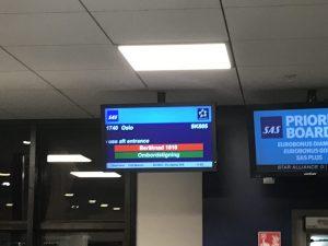 Oslo - Stockholm Shuttle mit SAS