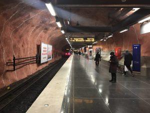 Wunderbare U-Bahn Welt in Stockholm
