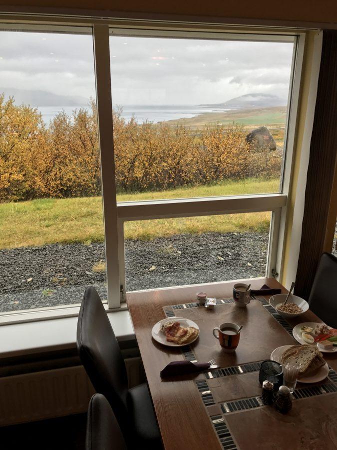 Hotel Glymur - Frühstücken mit Aussicht