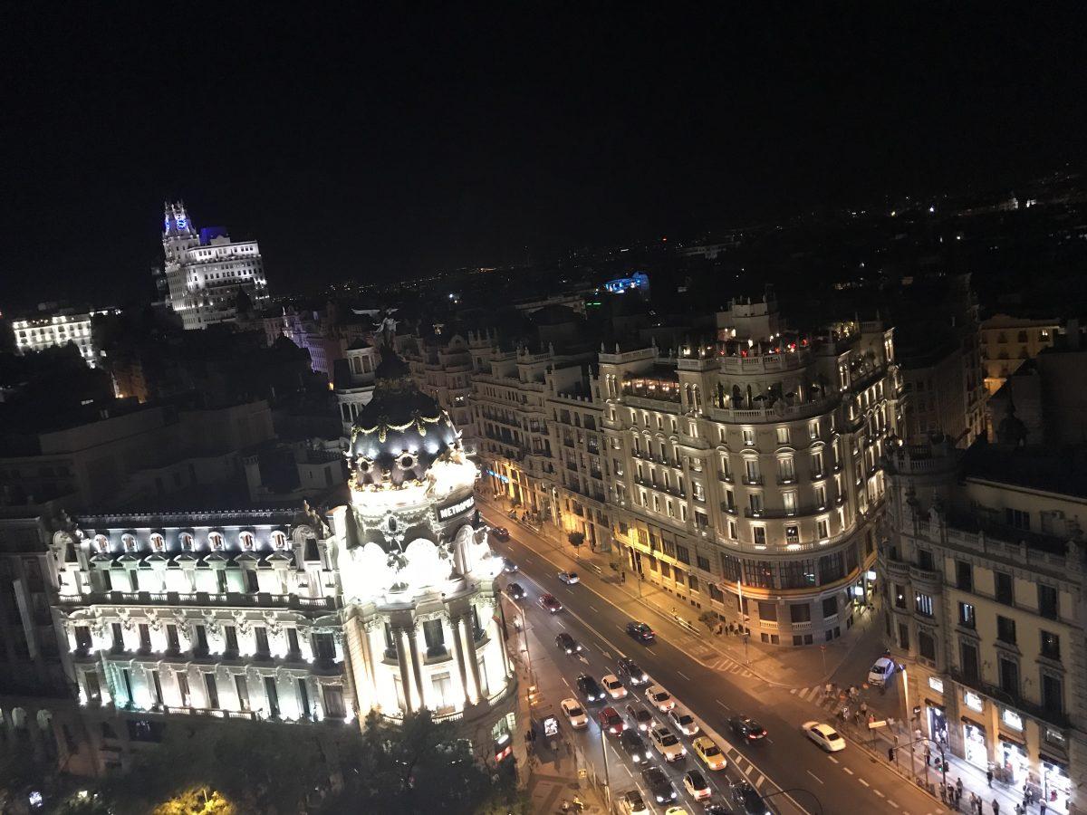 Die Tartan Rooftop Bar- Klasse Blick über Madrid