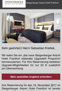 Steigenberger Flughafenhotel in Frankfurt