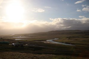 Sheep & Horse Farm Kopareykir - Sonnenuntergang