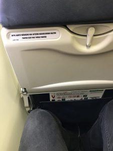Eurowings Dash 8-Q400 - Der Sitzabstand