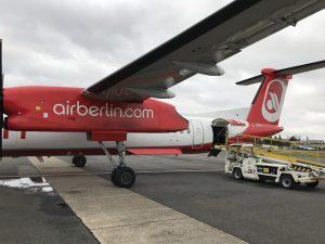Eurowings Dash 8-Q400 - auf einer Außenposition