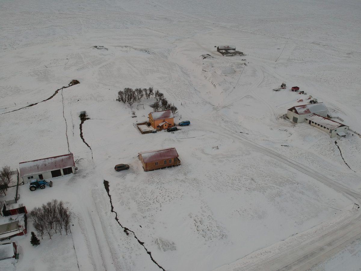 Sheep & Horse Farm Kopareykir - Von oben im Winter
