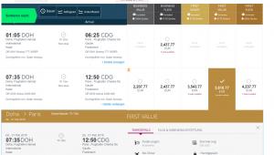 Privilege Club - Mit qmiles zur Qatar Airways First Class
