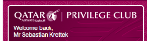 Mit qmiles zur Qatar Airways First Class