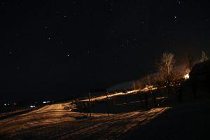 Nordlichter über Reykholt in Island