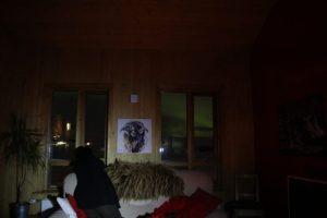 Sheep & Horse Farm Kopareykir - Nordlichter auch aus dem Gästehaus sichtbar