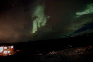 Nordlichter in Saurbaer im Januar