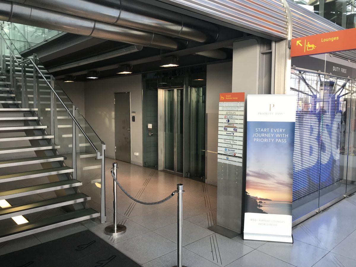 Eingang der Business Lounge Köln im Terminal 2