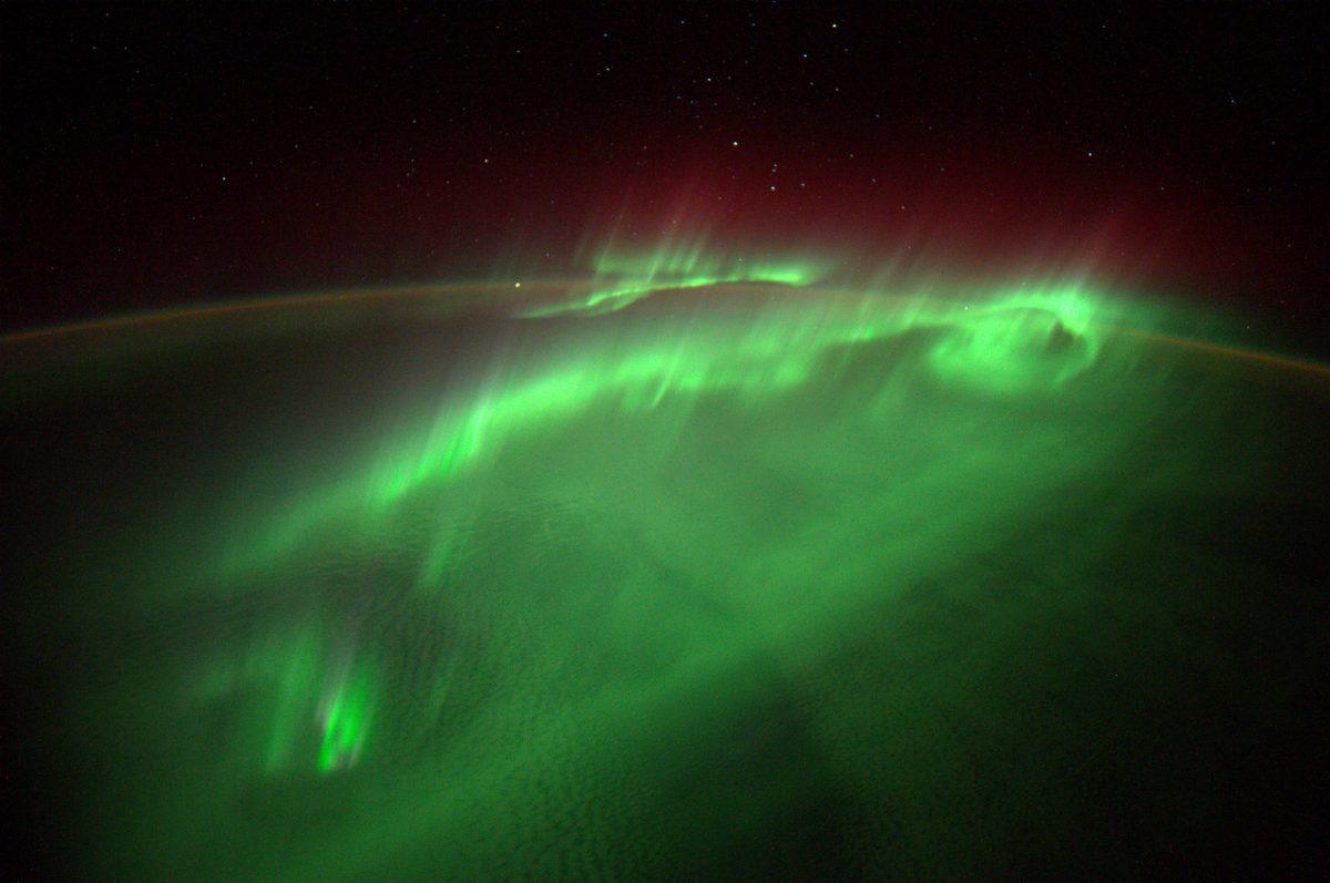 Die Aurora Borealis von der ISS - Foto @ESA/NASA-A.Gerst.