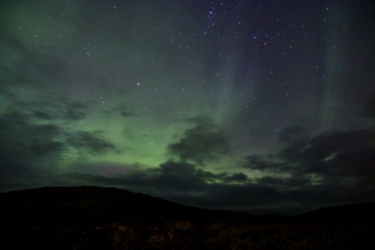 Nordlichter in Island in Saurbaer