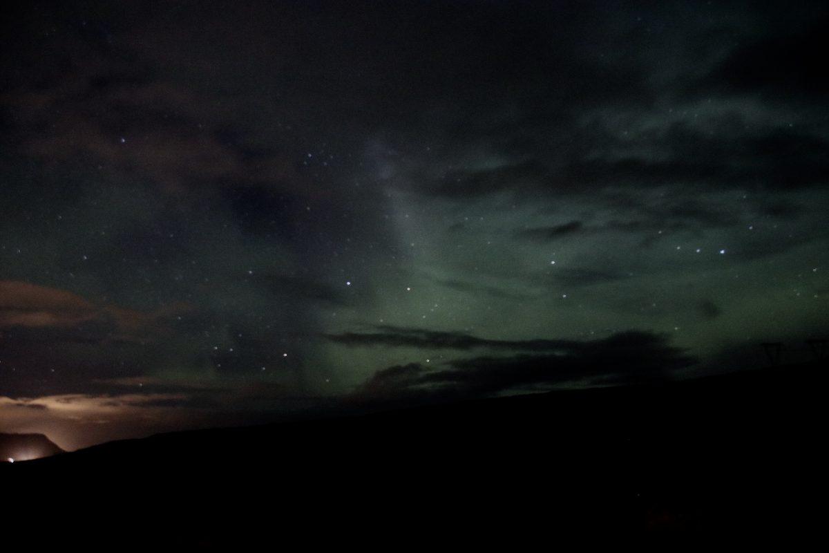 Nordlichter in Island am Hotel Glymur