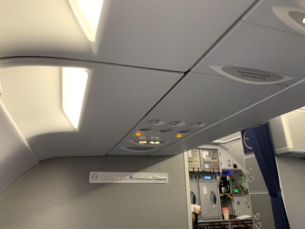 Im A320neo in der Lufthansa Business Class