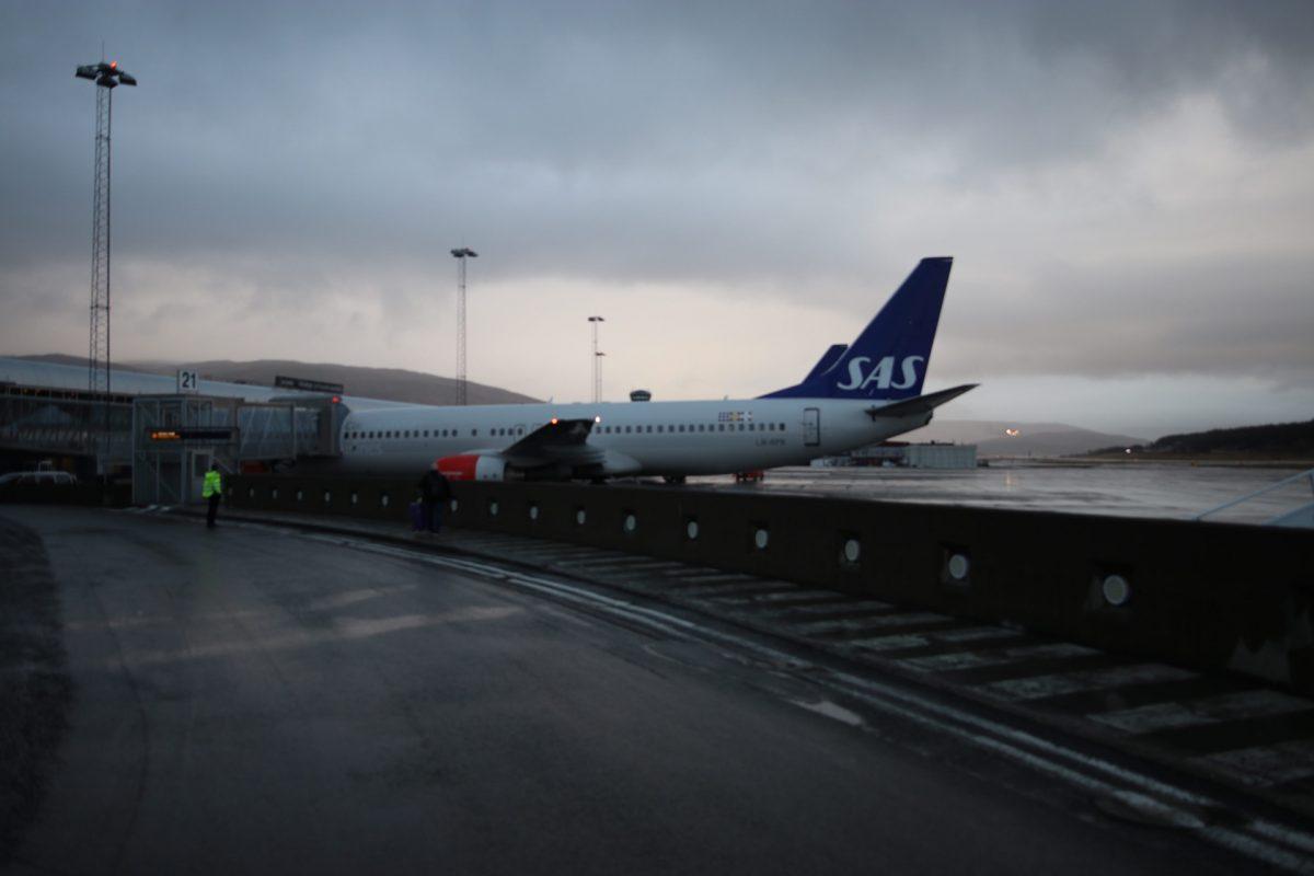 Flug in die Arktis