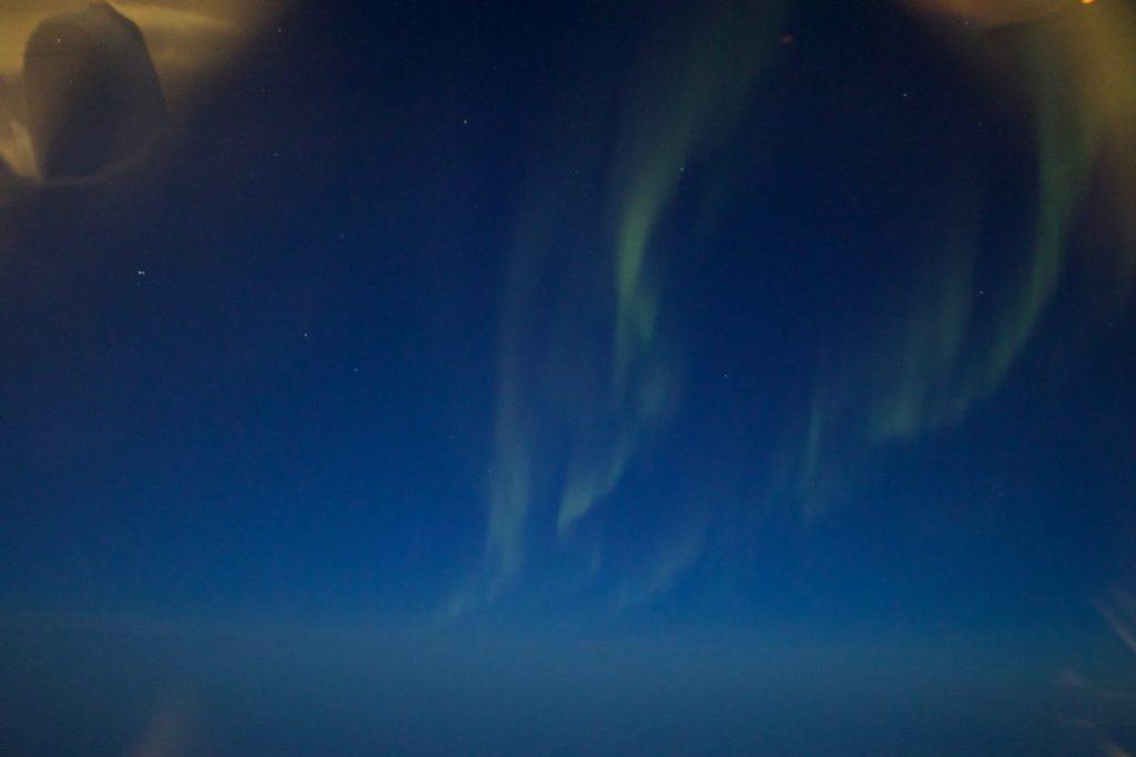 Nordlichter auf dem Flug