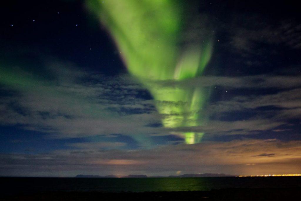 Nordlichter in Gardur - Reykjanes