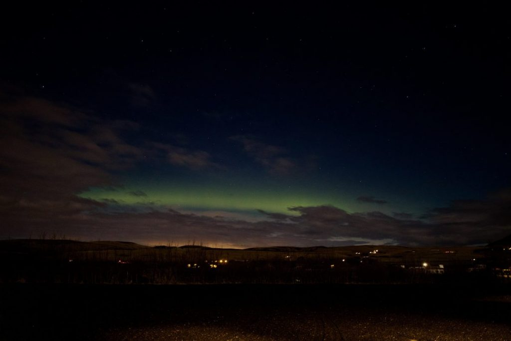Die Nordlichter am Hotel Eyjafjallajökull