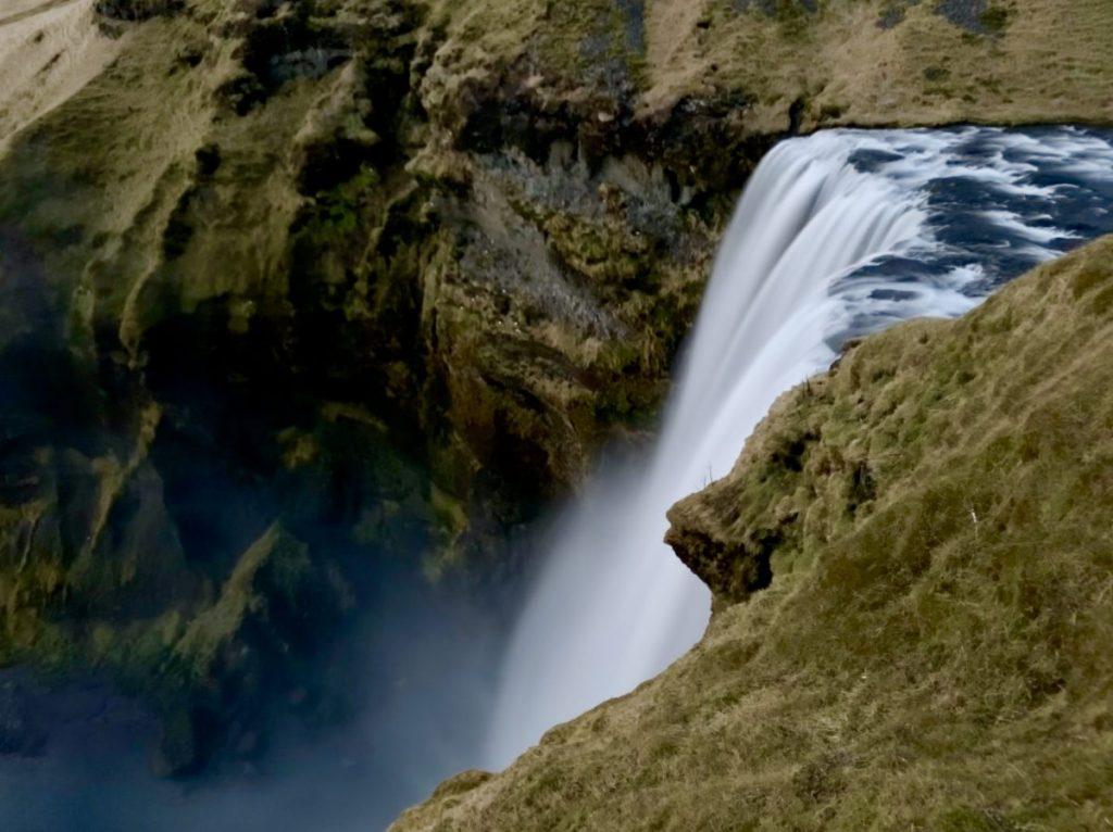 Skogafoss von oben - TOP Highlights in Island -Golden Circle und Südküste-