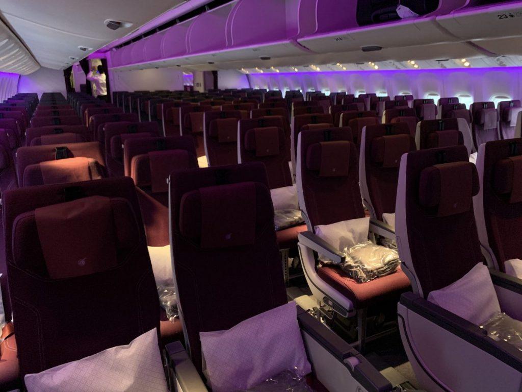 QSuite von Qatar Airways von Frankfurt nach Doha