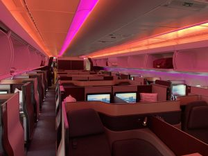 Qatar Airways A350-1000 Qsuite Kabine