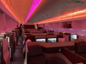 Qatar Airways A350-1000 Qsuite Kabine