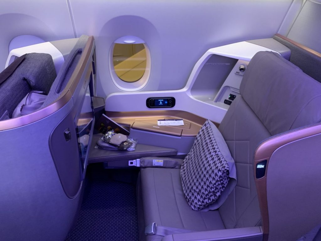 Singapore Airlines Business Class im A350 nach Milan