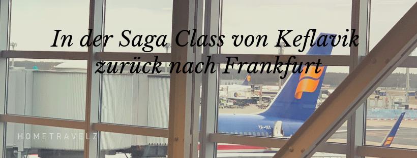 In der Saga Class von Keflavik zurück nach Frankfurt