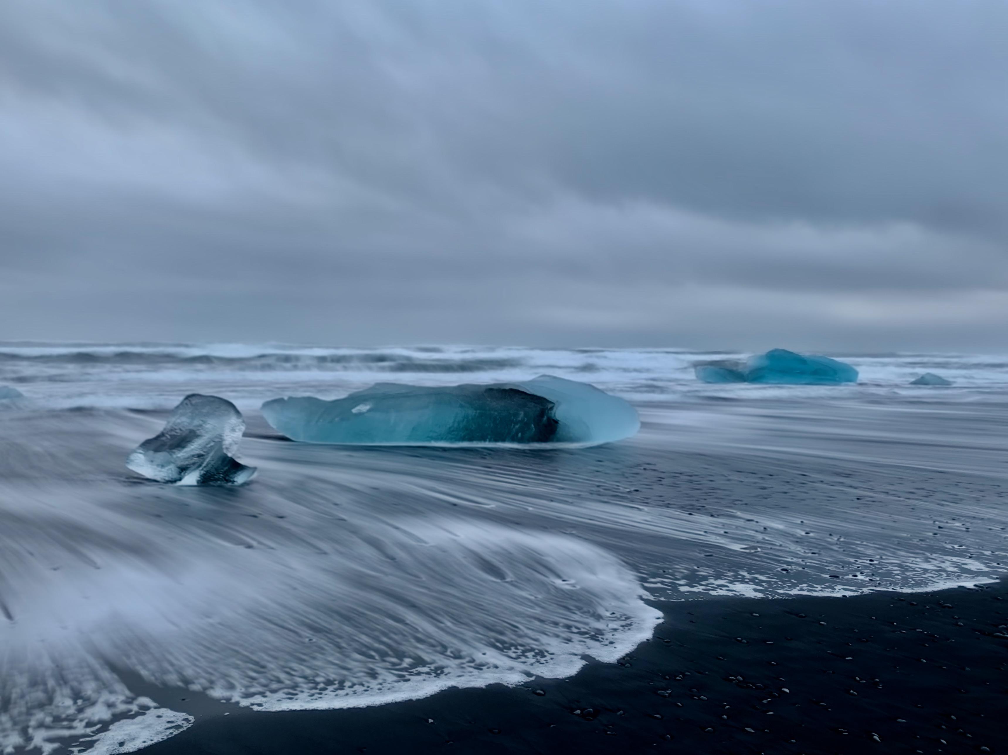 Der Diamond Beach im Süden von Ìsland