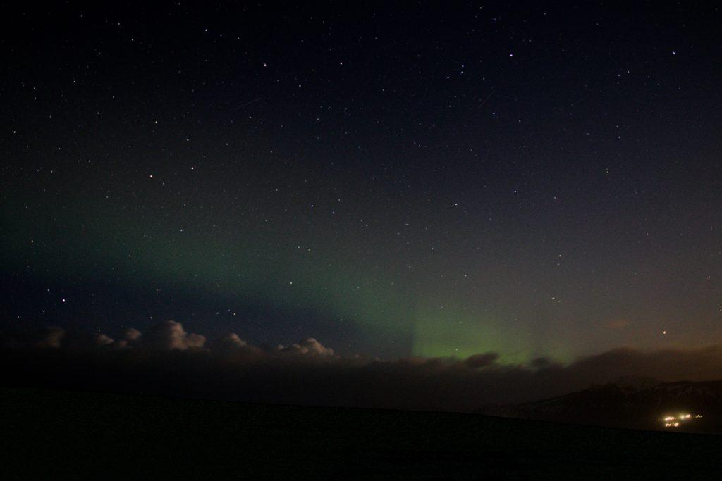Islands Südküste mit Nordlichtern