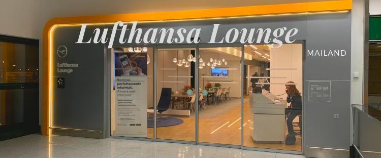 Lufthansa Lounge in Mailand Der Eingang