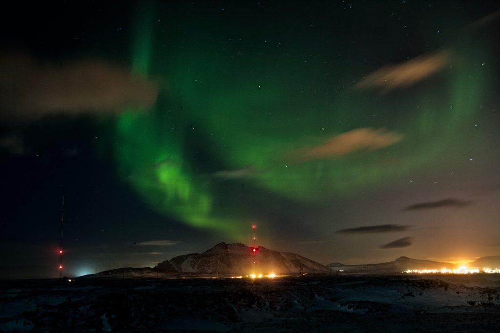 Highlight Touren in Island Nordlichter bei Grindavík